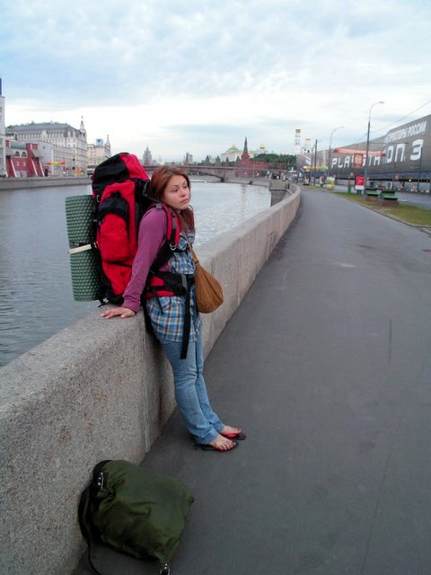 Hanne by the Moskva River