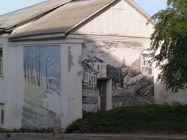 Deux peintures murales