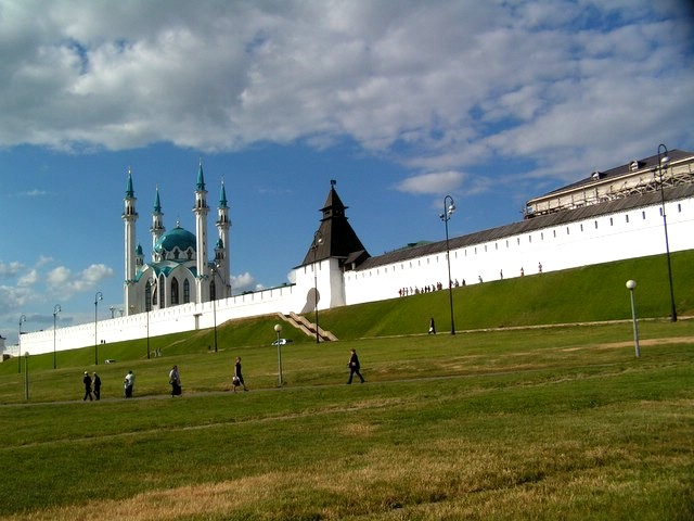 Mosque and Preobrazhenskaya Tower