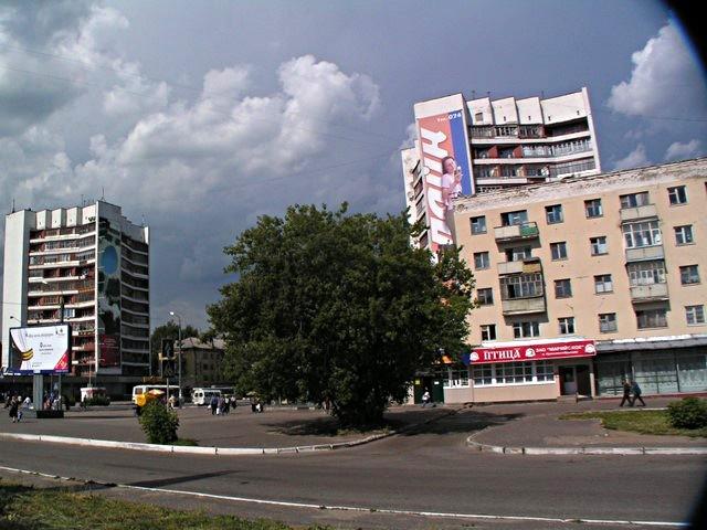 Railway station square
