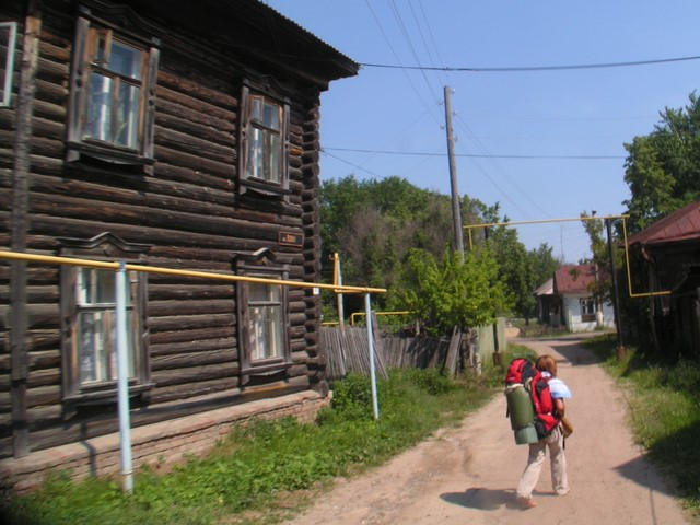Log house corner