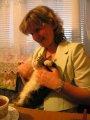 Olga avec son chat