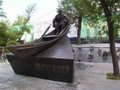 Mikhaïl Cholokhov dans un barque
