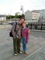 Oleg et Hanne sur la passarelle