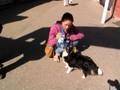 Hanne avec un chien