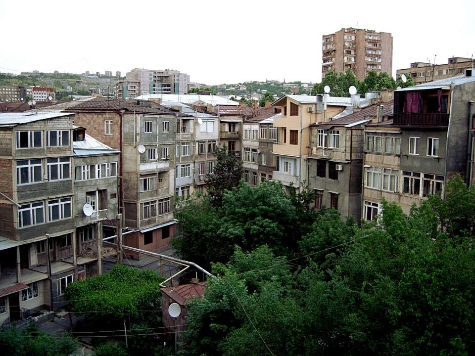 Inner yard of a housing block