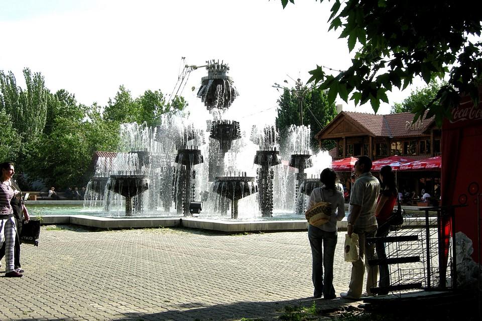 A fountain in the Yerevan Circular Park