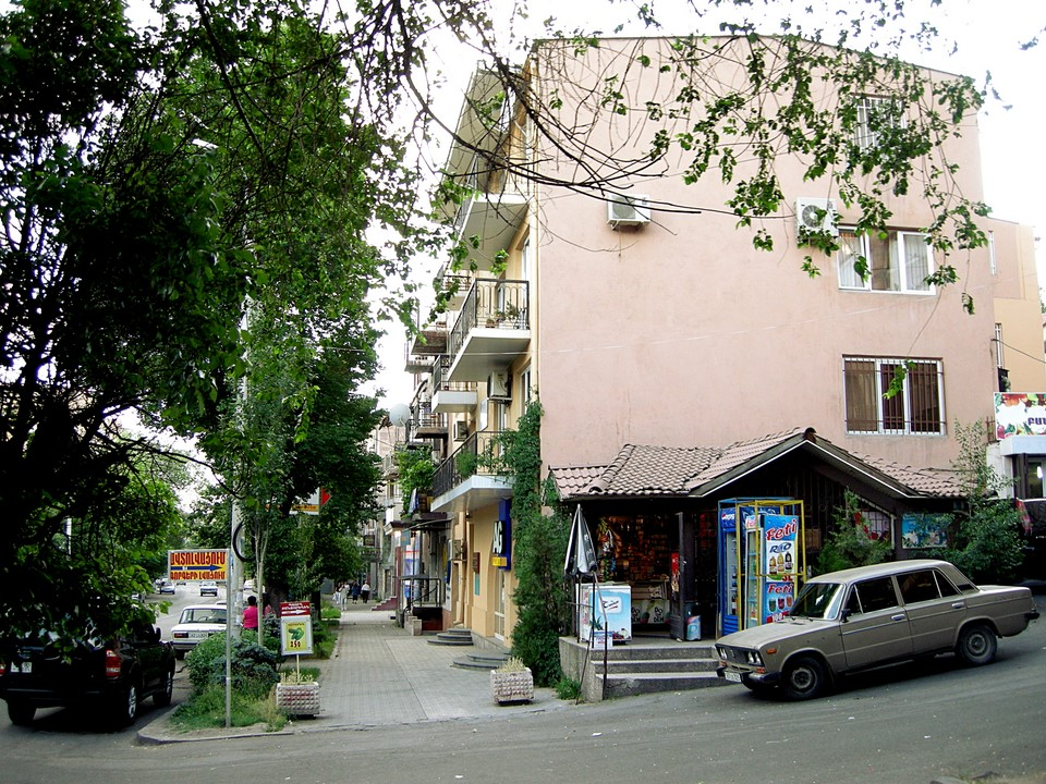 Kiosque in a street corner