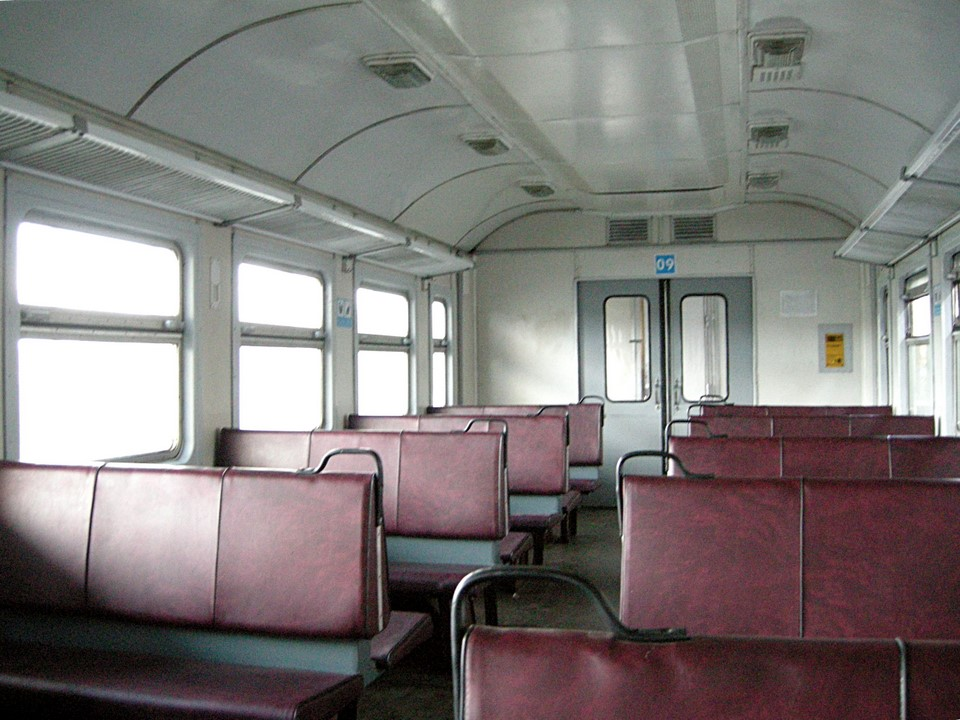 Interior view of the railway car