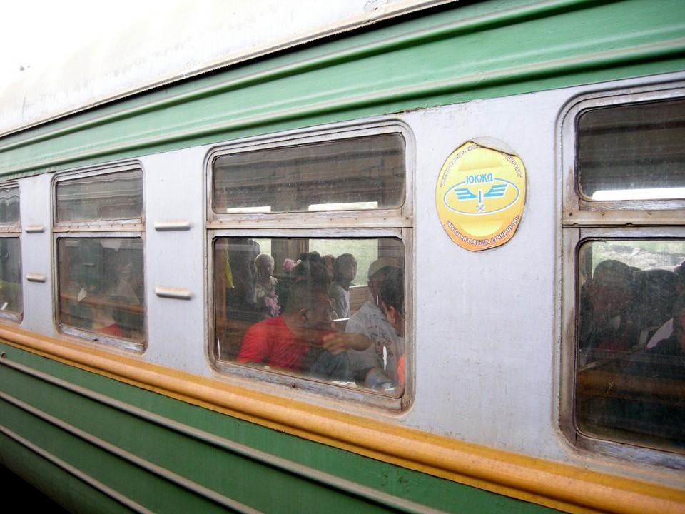 We met another train between Yerevan and Masis