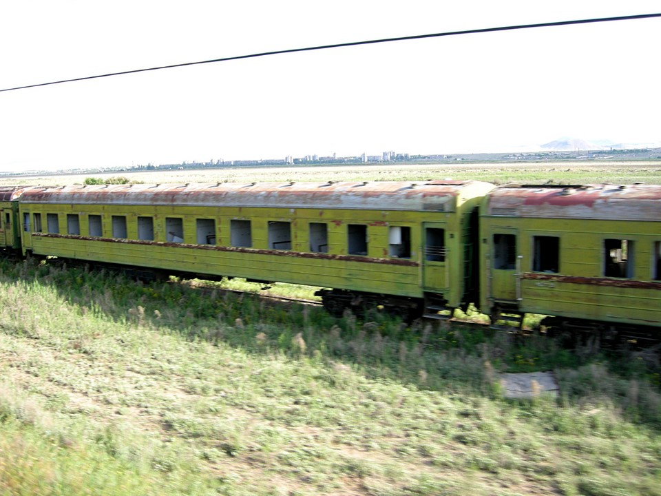 More abandoned railway cars