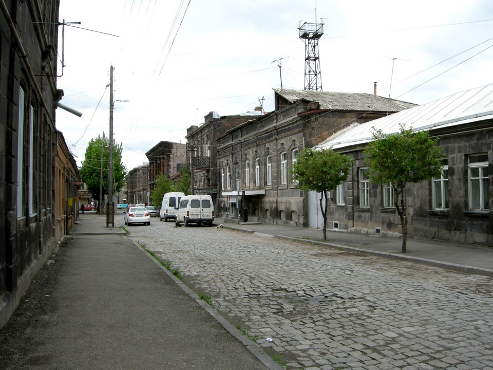 Houses at Kumayri district in Gyumri