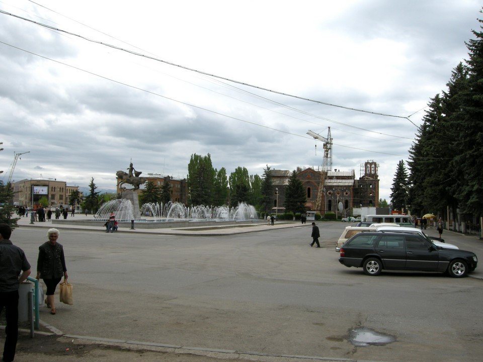 Vardanants Square in the Gyumri city centre