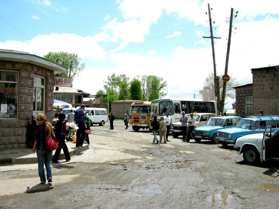 We took a bus from Gyumri bus station to Vanadzor
