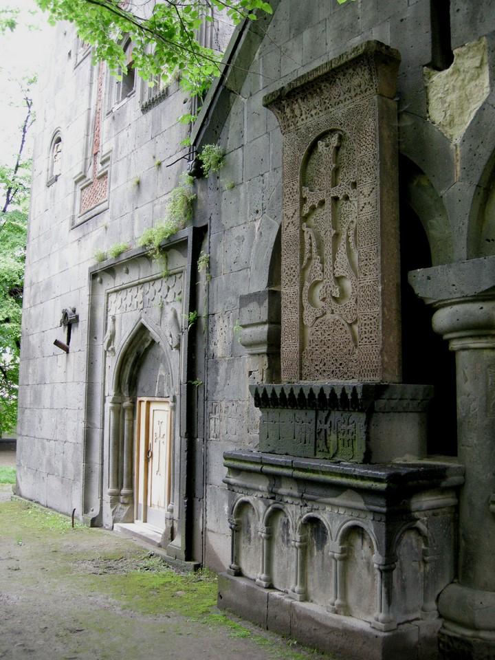 Khachkars are traditional Armenian stone crosses