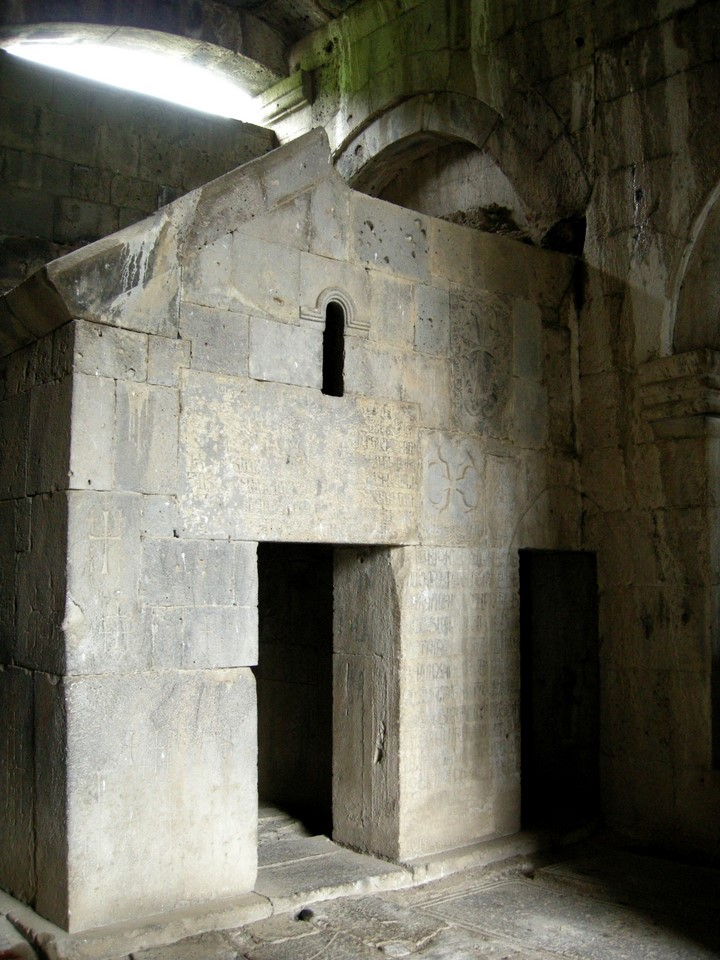 Prayer room behind the Amenarpkich khachkar