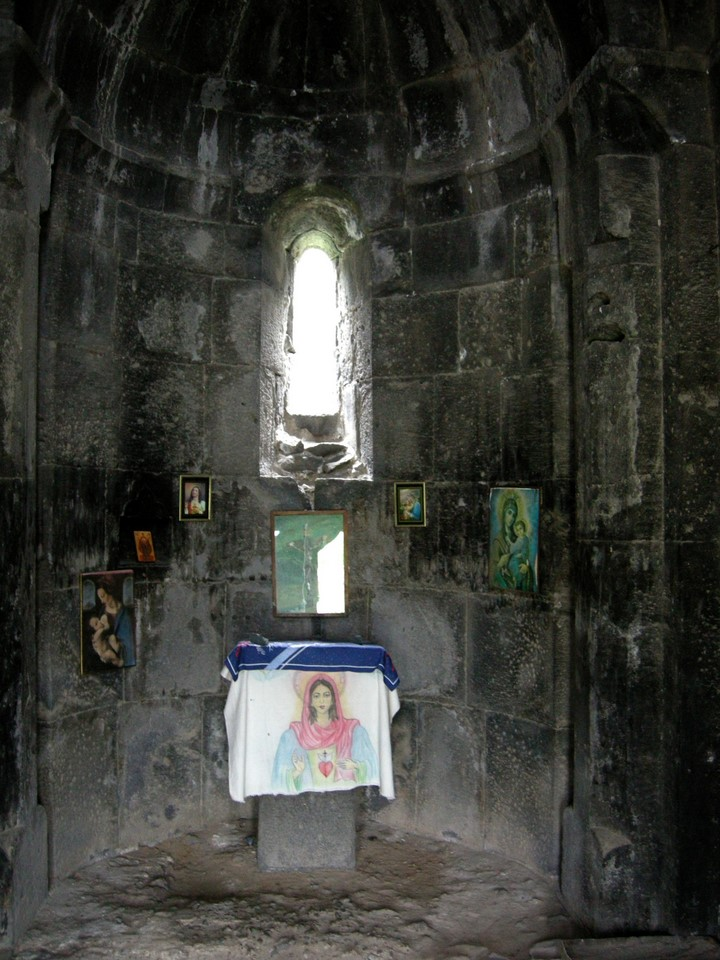 Images of Virgin Mary inside the chapel