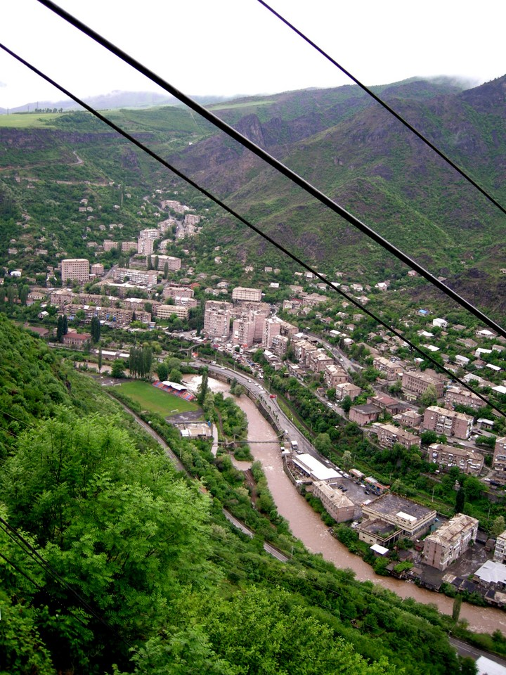 Town of Alaverdi is located by the river Debed