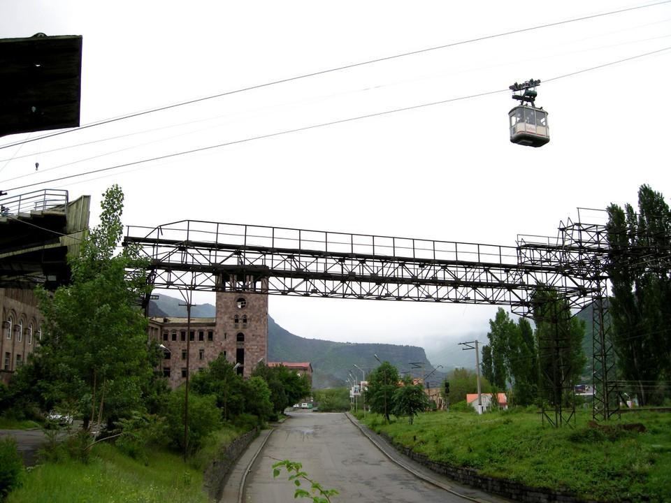 Encore une vue du téléphérique Alaverdi-Sanahin