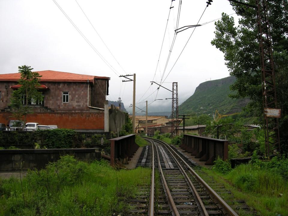 Railway passing through Alaverdi