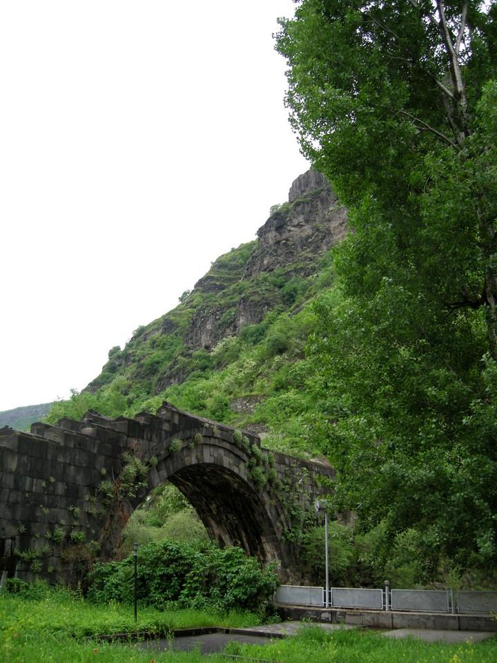The Sanahin Bridge is a medieval bridge crossing river Debed in Alaverdi