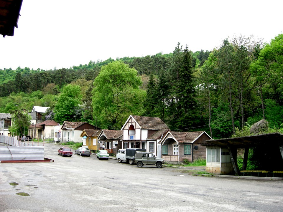 Street and houses in the city of Dilijan