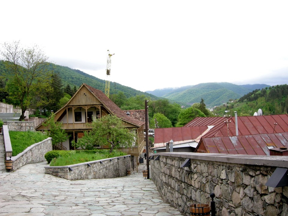Sharambeyan Street in the old part of Dilijan