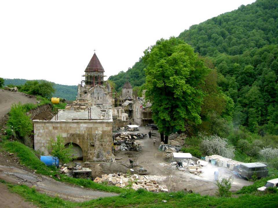 Haghartsin Monastery was undergoing a renovation