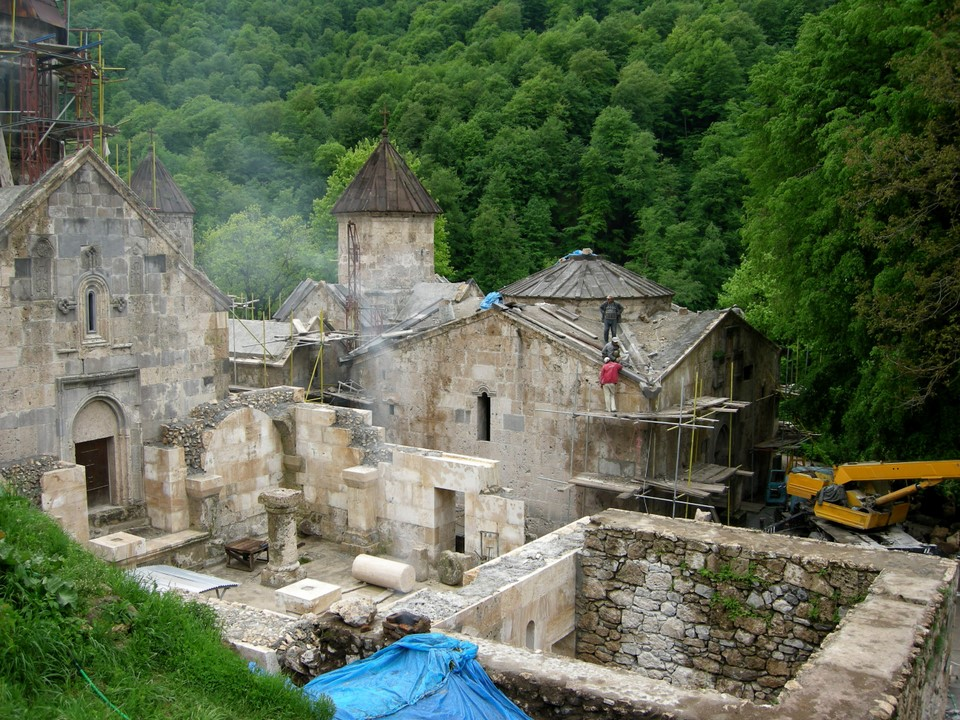 Many of the monastery buildings were almost totally destroyed in the past centuries