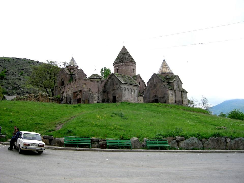 Goshavank Monastery and a Lada