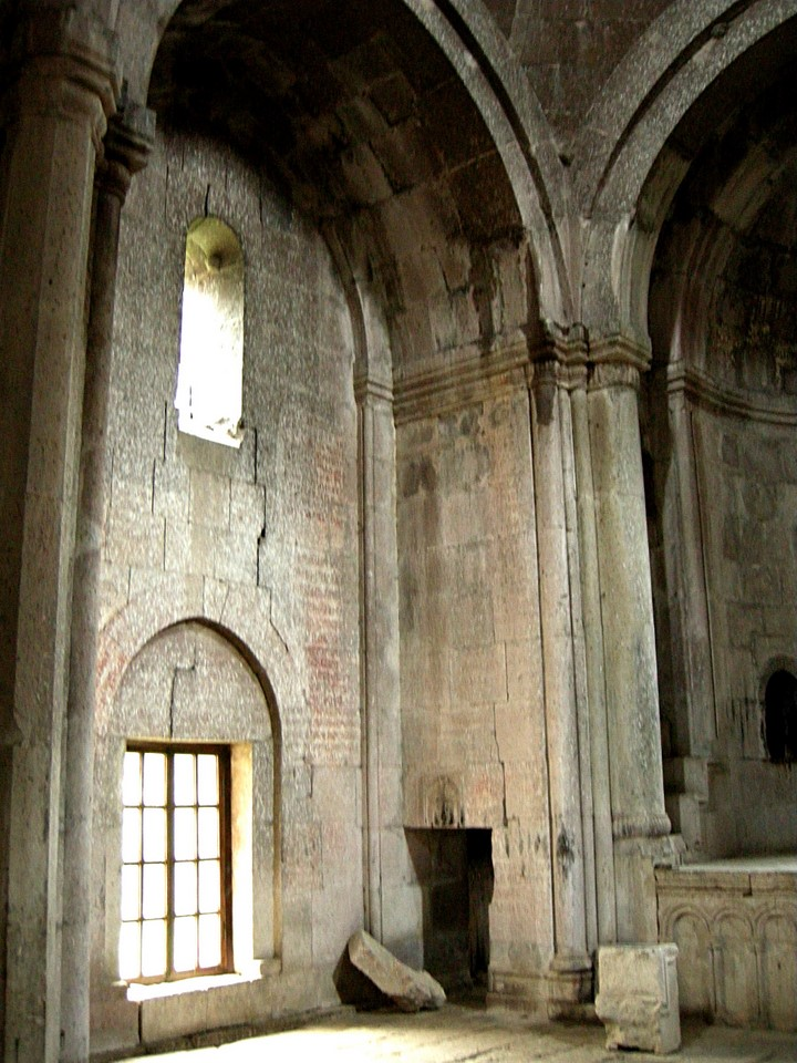Inside the church of St Astvatsatsin in Goshavank