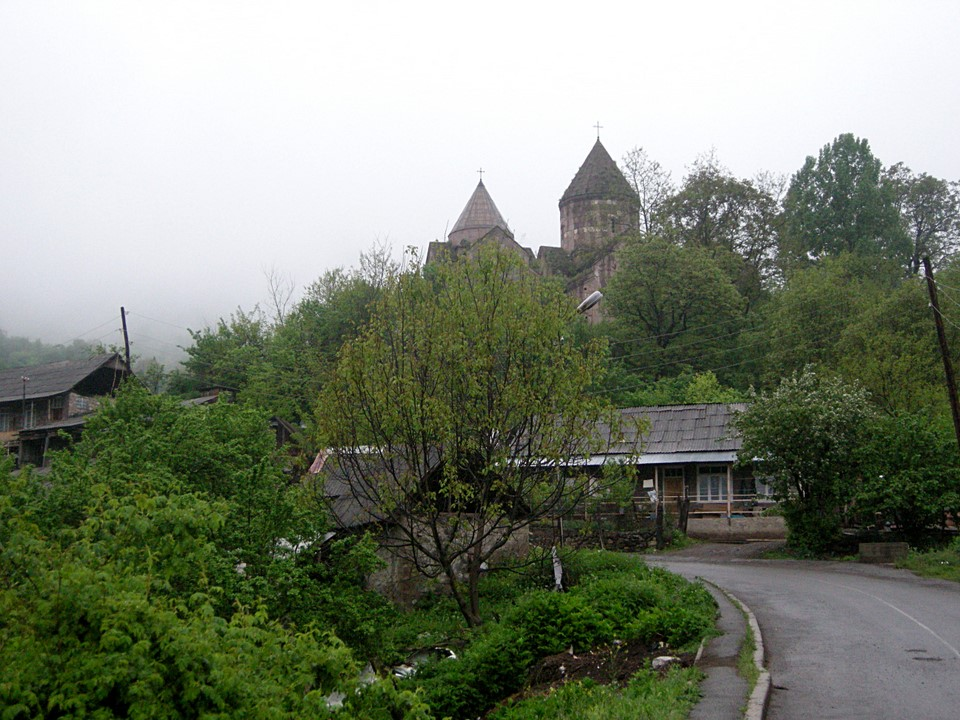 A morning view from the village of Gosh and the Goshavank Monastery