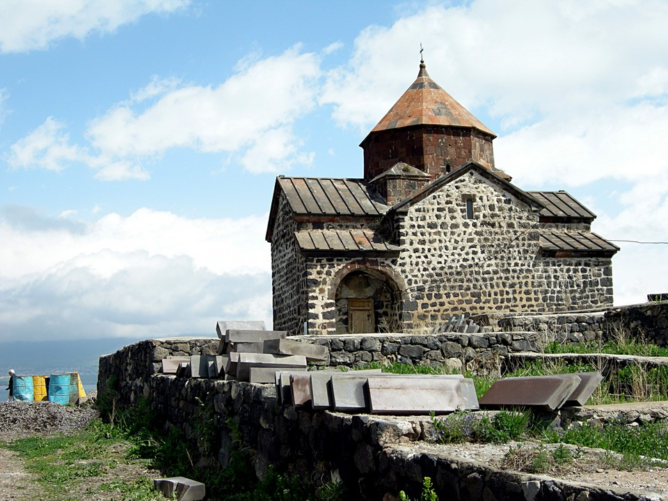 Surb Astvatsatsin is lower of the two church
