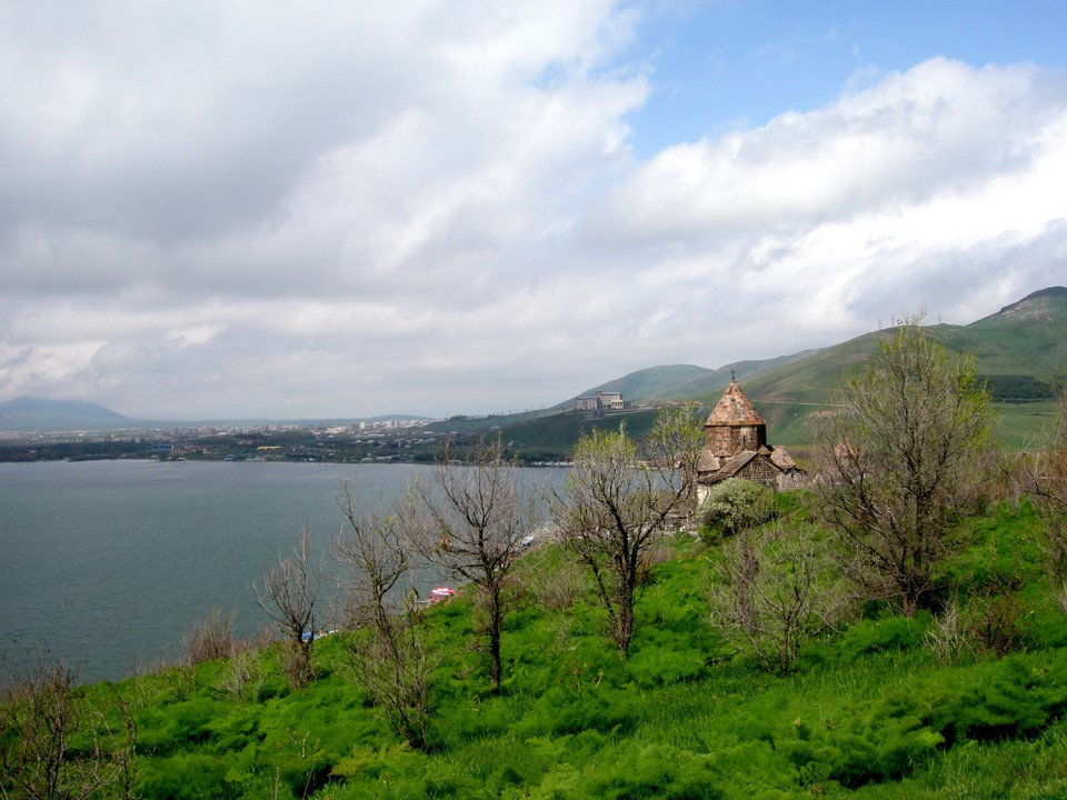 Spring Scenery To The Monastery And Lake Sevan