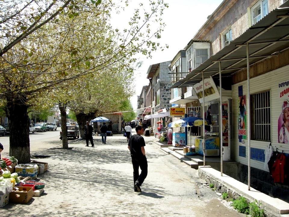 Centre-ville de Sevan