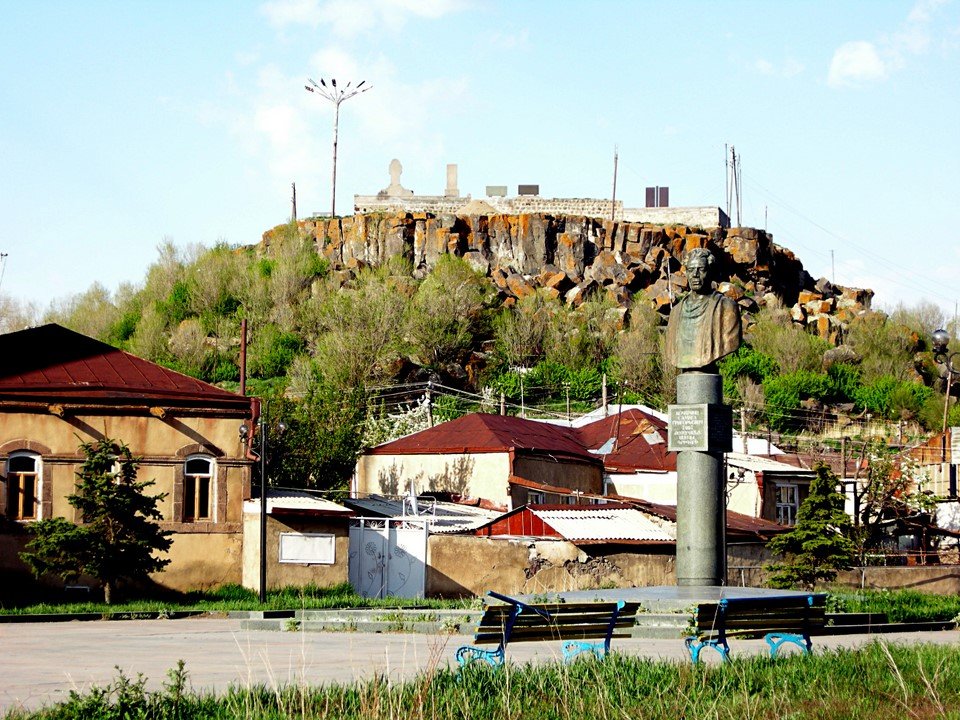 Gavar cemetery is located on top of a hill