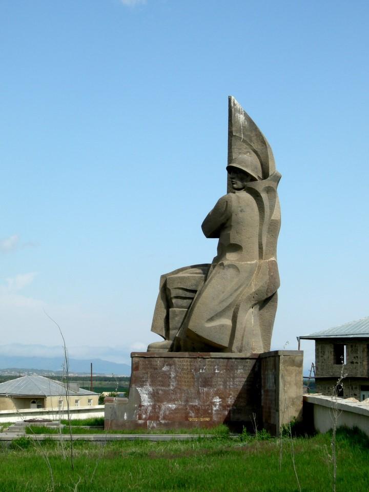 Soviet era war memorial in the cemetery