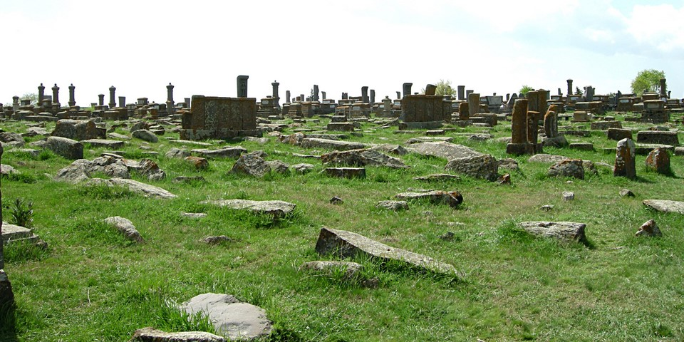 There is a wide area of khachkars at Noraduz cemetery