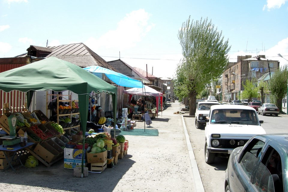 Vendors by the street