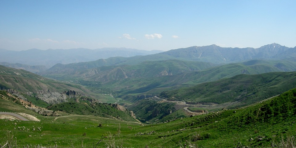 View to the valley in the south