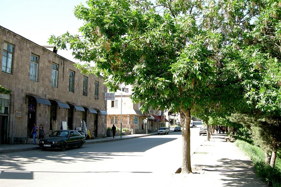 A street in Yeghegnadzor