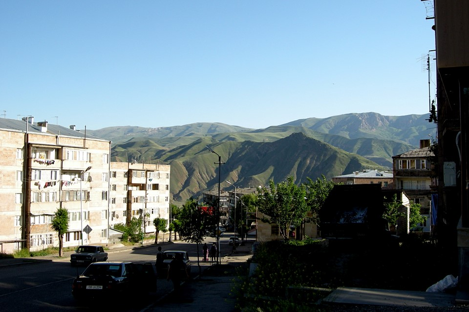 Mountain view from the city