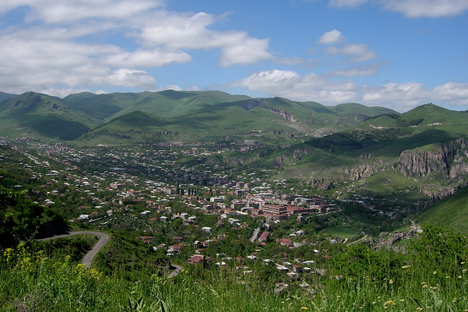 Goris is located in a valley of Zangezur Mountains