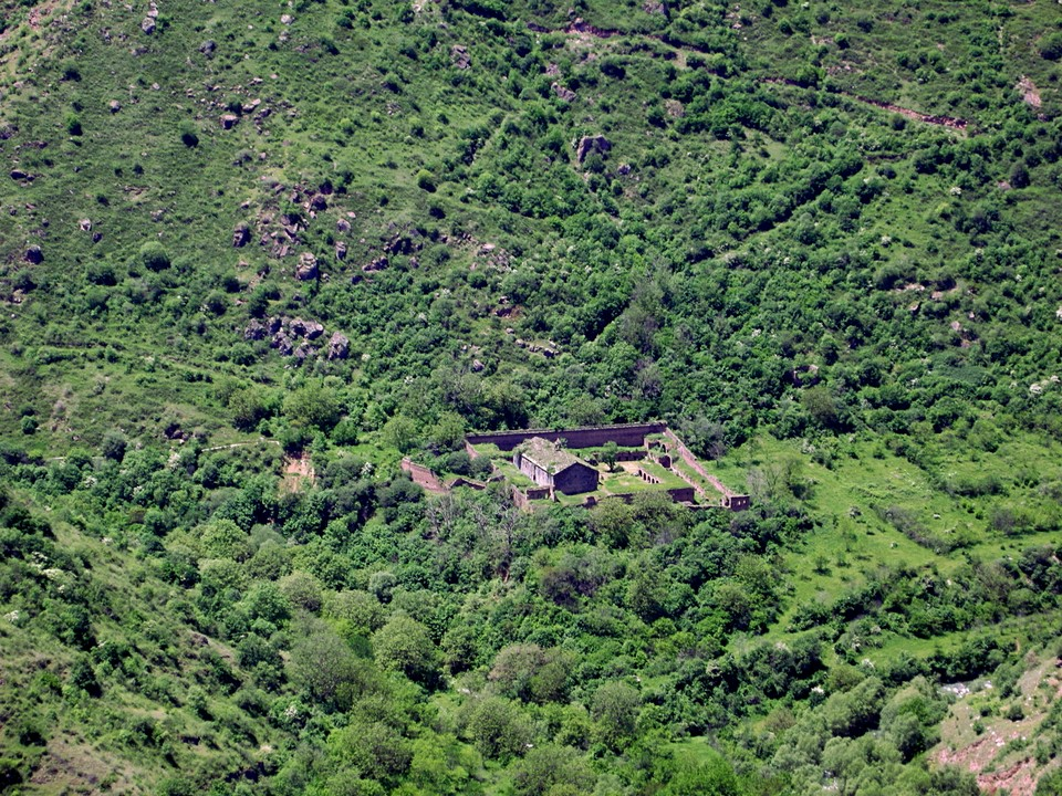 Smaller Tatevi Mets Anapat Monastery is located down in the valley