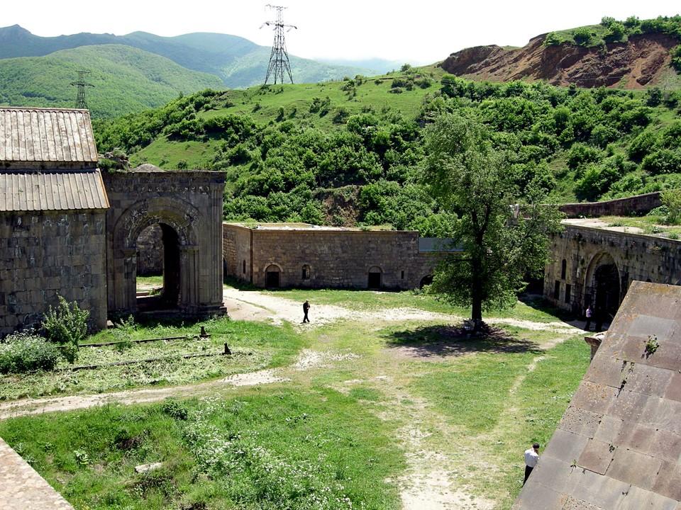 Tatev monastery yard