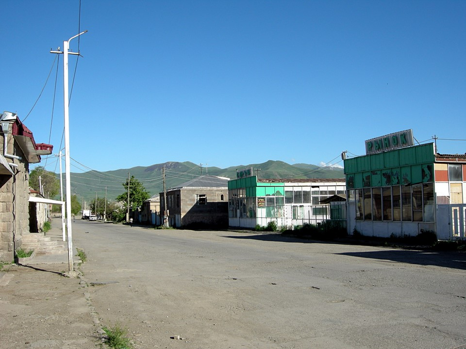 Empty street in Sisian