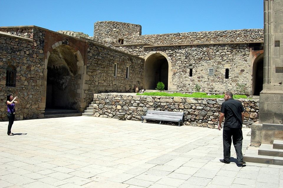Stony yard of the monastery