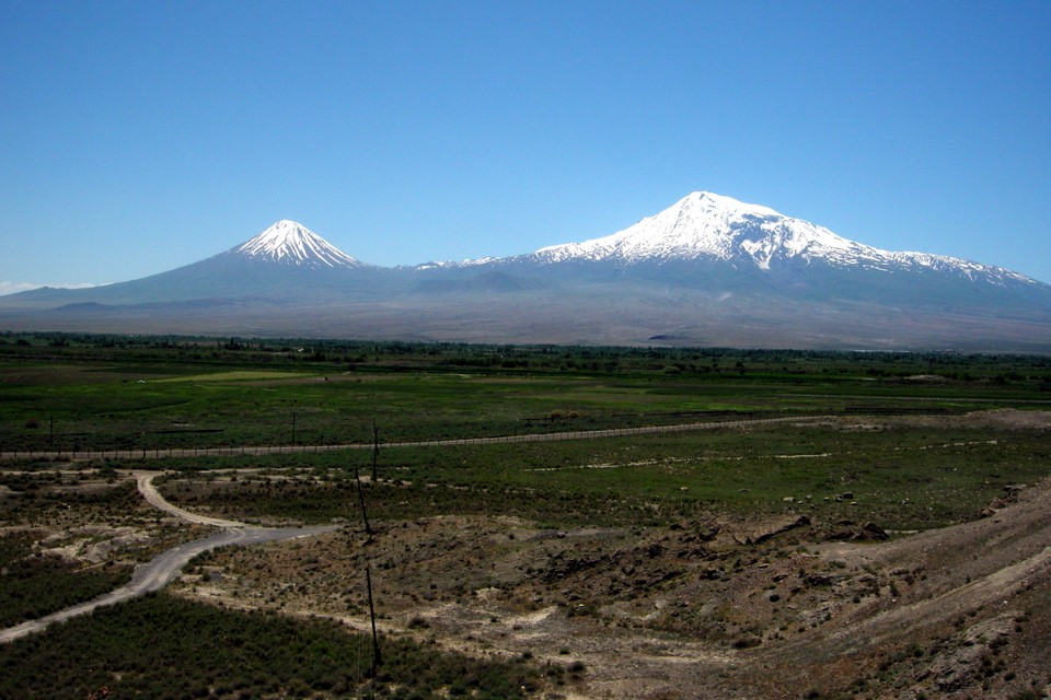View from monastery to Mount Ararat