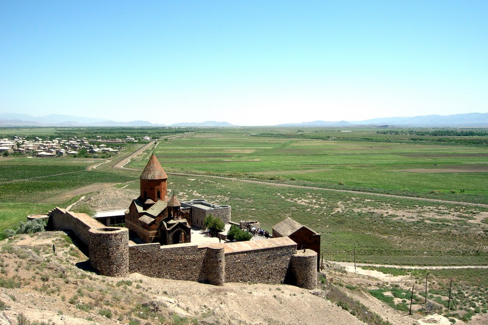Khor Virap Monastery and Lusarat village