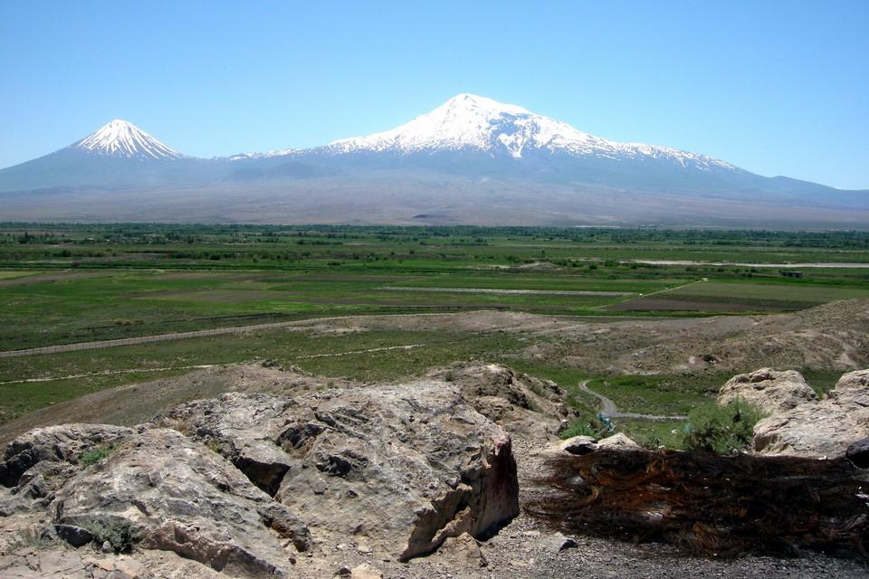 Vue du sommet d'une colline à côté du monastère